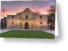 Sunrise At The Alamo San Antonio Texas 1 Greeting Card
