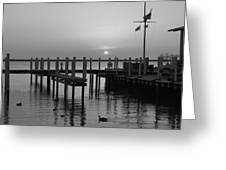 Sunrise At The Harbor Greeting Card