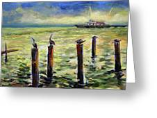Sunrise At The Inlet By Julianne Felton 2-24-14 Greeting Card