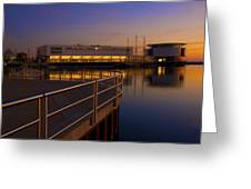 Sunrise At The Lakefront Greeting Card