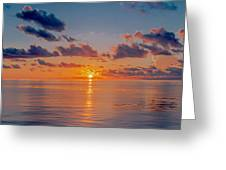 Sunrise At The Seychelles Greeting Card