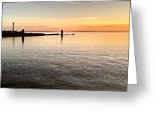 Sunrise At The Straits Greeting Card