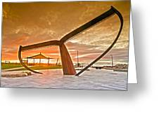 Sunrise At The Whale Tail Greeting Card by Sally Nevin