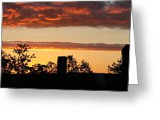 Sunrise At Thornhill Greeting Card
