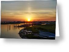 Sunrise At Two Mile Inlet - Wildwood Crest Greeting Card