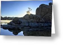 Sunrise At Watson Lake Greeting Card by Dan Myers