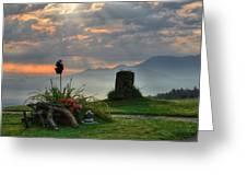 Sunrise At Wetzelsberg  Greeting Card