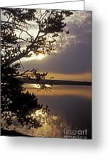 Sunrise At Yellowstone Lake Greeting Card