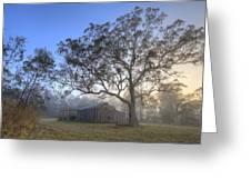 Sunrise Barn Greeting Card by Steve Caldwell