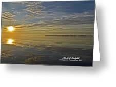 Sunrise Biloxi Ms Dec 2 2013 Greeting Card