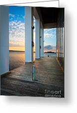 Sunrise Boardwalk Greeting Card