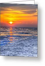 Sunrise Chicago Lake Michigan 3-9-14 Greeting Card