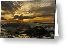 Sunrise Clear Wave  Greeting Card
