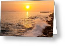 Sunrise Colors - San Francisco Bay Greeting Card