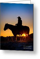 Sunrise Cowboy Greeting Card