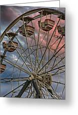 Sunrise Ferris Wheel Greeting Card