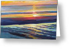 Sunrise Flats Greeting Card by Ed Chesnovitch