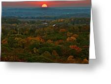 Sunrise From Atop Greeting Card