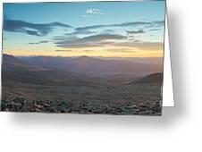 Sunrise From Mt Sherman Panorama Greeting Card