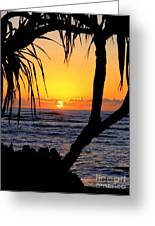 Sunrise Fuji Beach Kauai Greeting Card