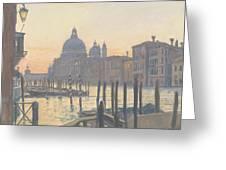 Sunrise Grand Canal Greeting Card
