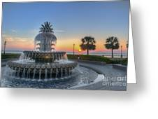 Sunrise In Charleston Greeting Card