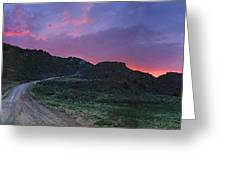 Sunrise In Colorado Greeting Card