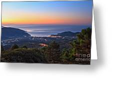sunrise in Elba island Greeting Card