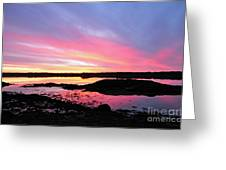 Sunrise In Maine Greeting Card