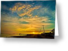 Sunrise In Manaure Colombia Greeting Card