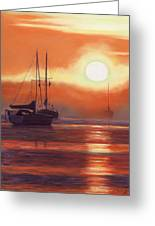 Sunrise In Newburyport Mass Greeting Card