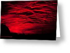 Sunrise In Red Greeting Card