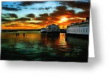 Sunrise In San Francisco Greeting Card