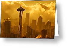 Sunrise In Seattle Greeting Card