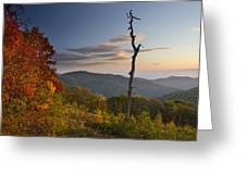Sunrise In Shenandoah National Park Greeting Card