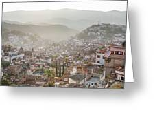 Sunrise In Taxco, Guerrero, Mexico Greeting Card