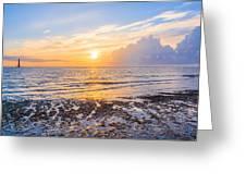 Sunrise In The Atlantic Greeting Card