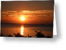 Sunrise In The Bahamas Greeting Card