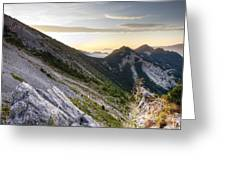 Sunrise In The Pyrenean Catalonia Greeting Card