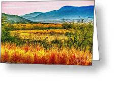 Sunrise In Verde Valley Arizona Greeting Card