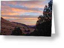 Sunrise - Indian Lodge Greeting Card by Allen Sheffield