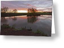 Sunrise Lenton Fishing Pond Greeting Card