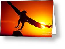 Sunrise Liftoff Golden Eagle Threatened Species Greeting Card