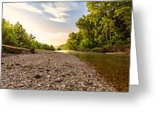 Sunrise Light On Buffalo River Greeting Card