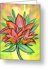 Sunrise Lily Greeting Card