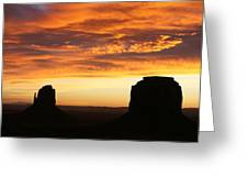 Sunrise Monument Valley Greeting Card