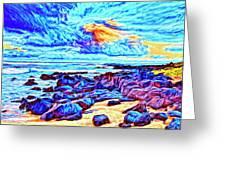 Sunrise Near Poipu Beach Greeting Card