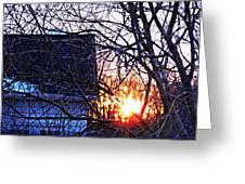 Sunrise Next Door Greeting Card