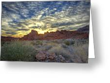 Sunrise Of Fire Greeting Card