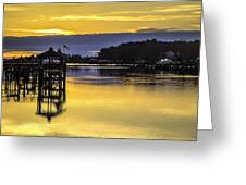 Sunrise Of The Atlantic Icw Greeting Card